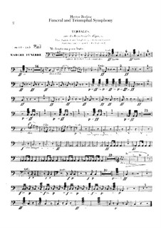Grand Funeral and Triumphal Symphony, H.80 Op.15: Percussions part by Hector Berlioz