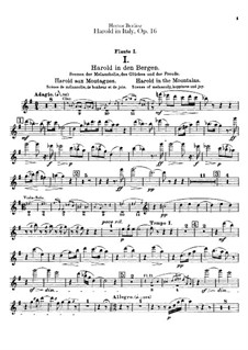 Harold en Italie, H.68 Op.16: parte de flautas by Hector Berlioz