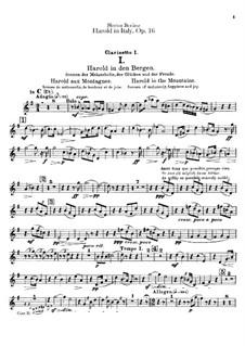 Harold en Italie, H.68 Op.16: parte clarinetas by Hector Berlioz
