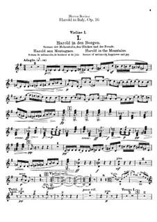 Harold en Italie, H.68 Op.16: parte violinos by Hector Berlioz