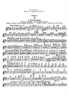 Roméo et Juliette (Romeo and Juliet), H.79 Op.17: parte de flautas by Hector Berlioz