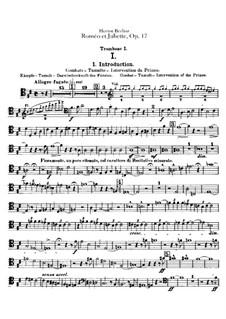 Roméo et Juliette (Romeo and Juliet), H.79 Op.17: parte de trombones e tubas by Hector Berlioz