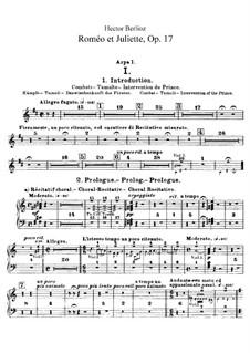 Roméo et Juliette (Romeo and Juliet), H.79 Op.17: parte harpas by Hector Berlioz