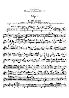 Roméo et Juliette (Romeo and Juliet), H.79 Op.17: violinos parte I by Hector Berlioz