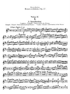 Roméo et Juliette (Romeo and Juliet), H.79 Op.17: violinos parte II by Hector Berlioz