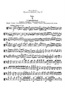 Roméo et Juliette (Romeo and Juliet), H.79 Op.17: parte violas by Hector Berlioz