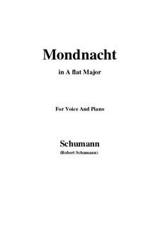 No.5 Mondnacht (Moonlight Night): A flat Major by Robert Schumann