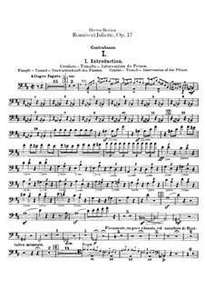 Roméo et Juliette (Romeo and Juliet), H.79 Op.17: Parte contrabaixo by Hector Berlioz