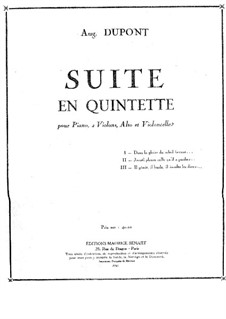 Suite en quintette for Piano and Strings: Suite en quintette for Piano and Strings by Auguste Dupont