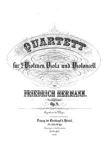 String Quartet in E Minor, Op.8: Quarteto de cordas em E menor by Friedrich Hermann