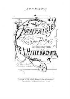 Fantasia for Violin and Piano: partitura by Paul Joseph Guillaume Hillemacher