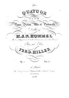 Piano Quartet in B Minor, Op.1: Piano Quartet in B Minor by Ferdinand von Hiller