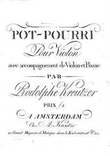 Potpourri No.2 for Two Violin and Cello: violino parte I by Rodolphe Kreutzer