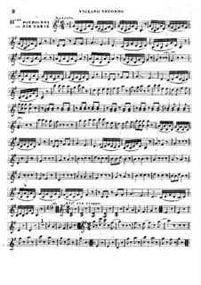 Potpourri No.2 for Two Violin and Cello: violino parte II by Rodolphe Kreutzer