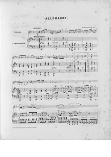 Suite for Violin and Piano, Op.17: Suite para Violino e Piano by Woldemar Bargiel