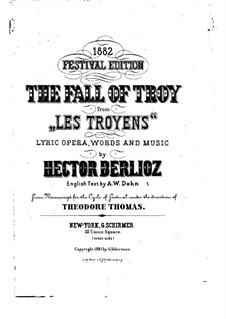 Les Troyens (The Trojans), H.133 Op.29: para solistas,coral e piano, Op.29a by Hector Berlioz