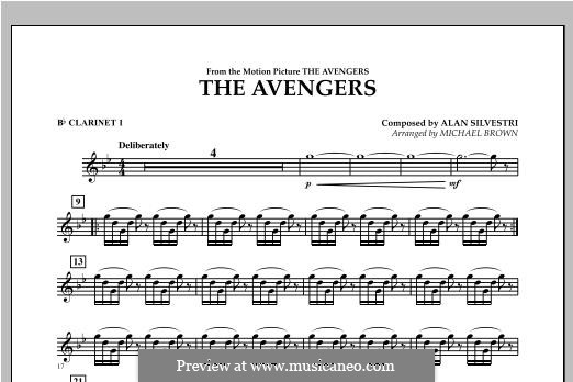The Avengers: Bb Clarinet 1 part by Alan Silvestri