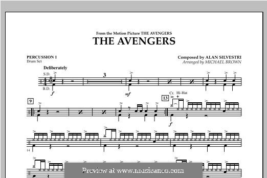 The Avengers: Percussion 1 part by Alan Silvestri