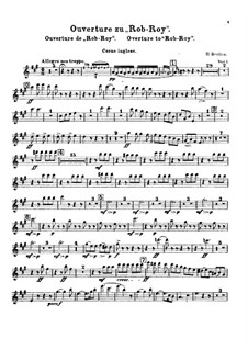 Rob-Roy. Overture, H.54: Cor anglais part by Hector Berlioz