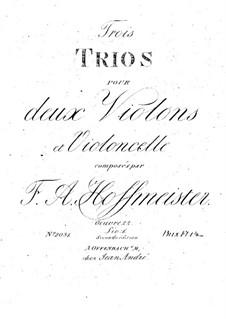 Three String Trios, Op.22: violino parte II by Franz Anton Hoffmeister