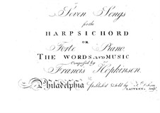 Eight Songs for Voice and Piano (or Harpsichord): Eight Songs for Voice and Piano (or Harpsichord) by Francis Hopkinson