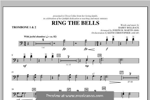 Ring the Bells: Trombone 1 & 2 part by Harry Bollback