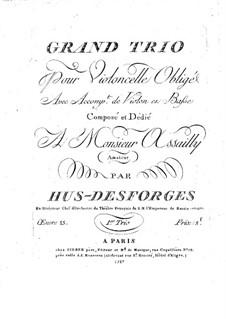 String Trio in E Flat Major, Op.15: parte do violino by Pierre Louis Hus-Desforges