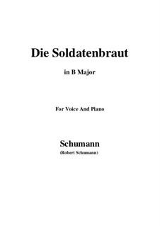 Romances and Ballades, Op.64: No.1 Die Soldntenbraut (B Major) by Robert Schumann