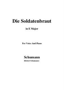 Romances and Ballades, Op.64: No.1 Die Soldntenbraut (E Major) by Robert Schumann