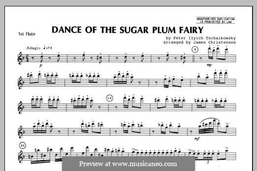 No.3 Dance of the Sugar-Plum Fairy: For trio flutes – Flute 1 part by Pyotr Tchaikovsky