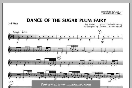 No.3 Dance of the Sugar-Plum Fairy: For trio flutes – Flute 3 part by Pyotr Tchaikovsky