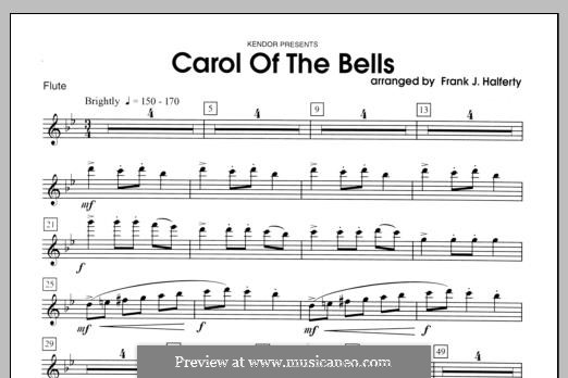 Carol of the Bells: For winds - Flute part by folklore