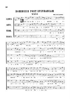 Jubilate Deo omnis terra: partituras de vocais by Orlande de Lassus