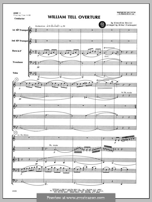 Overture (Printable Scores): For winds – full score by Gioacchino Rossini