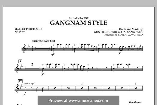 Gangnam Style: Mallet Percussion part by Gun Hyung Yoo, PSY