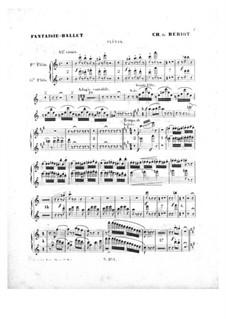 Scène de ballet, Op.100: parte de flautas by Charles Auguste de Beriot