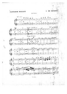 Scène de ballet, Op.100: parte de oboes by Charles Auguste de Beriot