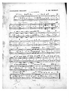 Scène de ballet, Op.100: parte trombones by Charles Auguste de Beriot