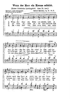 Wenn der Herr ein Kreuze schickt, Op.48 No.2: Wenn der Herr ein Kreuze schickt by Robert Radecke