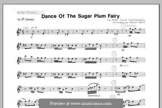 No.3 Dance of the Sugar-Plum Fairy: For quartet clarinets – 1st Bb Clarinet part by Pyotr Tchaikovsky
