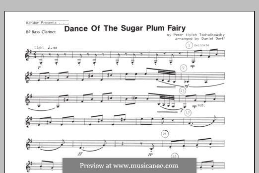 No.3 Dance of the Sugar-Plum Fairy: For quartet clarinets – Bb Bass Clarinet part by Pyotr Tchaikovsky
