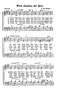 Wenn Christus, der Herr: Wenn Christus, der Herr by Georg Friedrich Händel