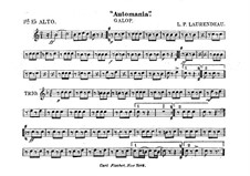 Automania. Galop for Cornet and Orchestra: Alto horn in Es I part by Louis-Philippe Laurendeau