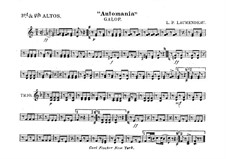 Automania. Galop for Cornet and Orchestra: Alto horns in Es III-IV part by Louis-Philippe Laurendeau