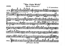 The Cake Walk for Cornet and Orchestra: parte Oboe by Louis-Philippe Laurendeau