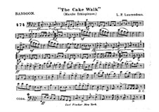 The Cake Walk for Cornet and Orchestra: parte fagote by Louis-Philippe Laurendeau