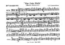The Cake Walk for Cornet and Orchestra: Parte de trombone III by Louis-Philippe Laurendeau