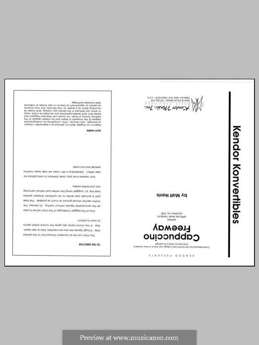Cappuccino Freeway: partitura completa by Matthew Harris
