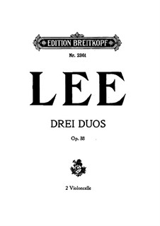 Duos for Two Cellos, Op.38: violoncelo parte I by Sebastian Lee