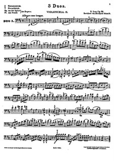 Duos for Two Cellos, Op.38: violoncelo parte II by Sebastian Lee